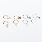Small Star Charm Hoops