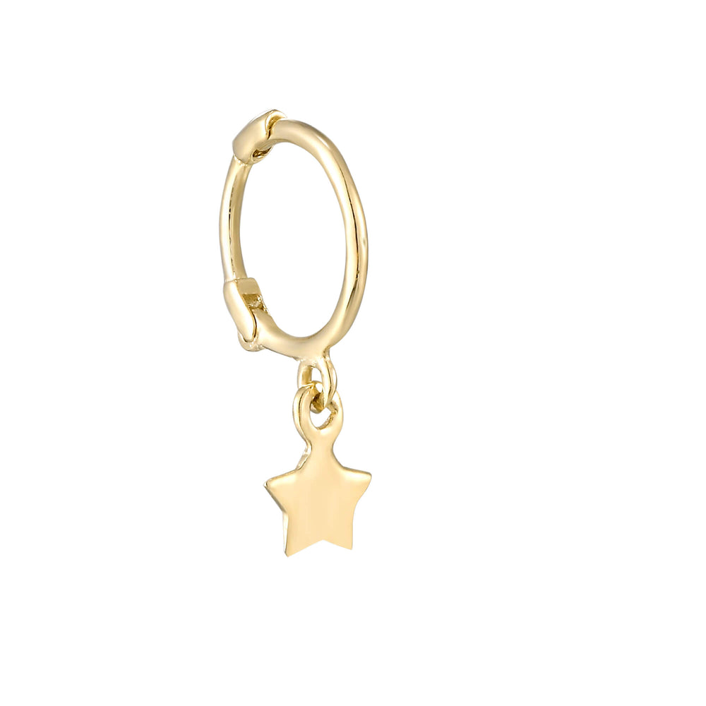 tiny gold hoop - seolgold