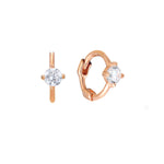 rose gold hoops - seol-gold