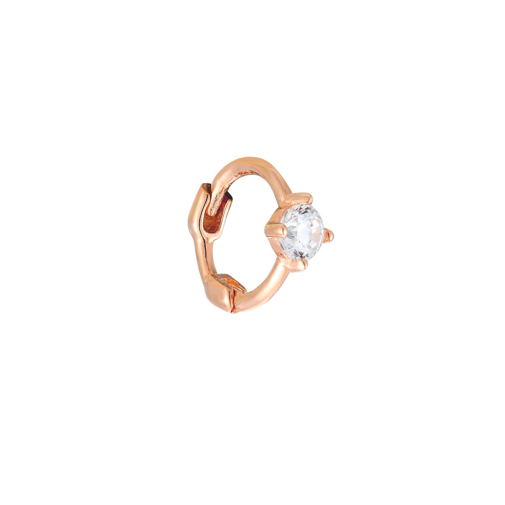 9ct rose gold - cartilage earring - seolgold