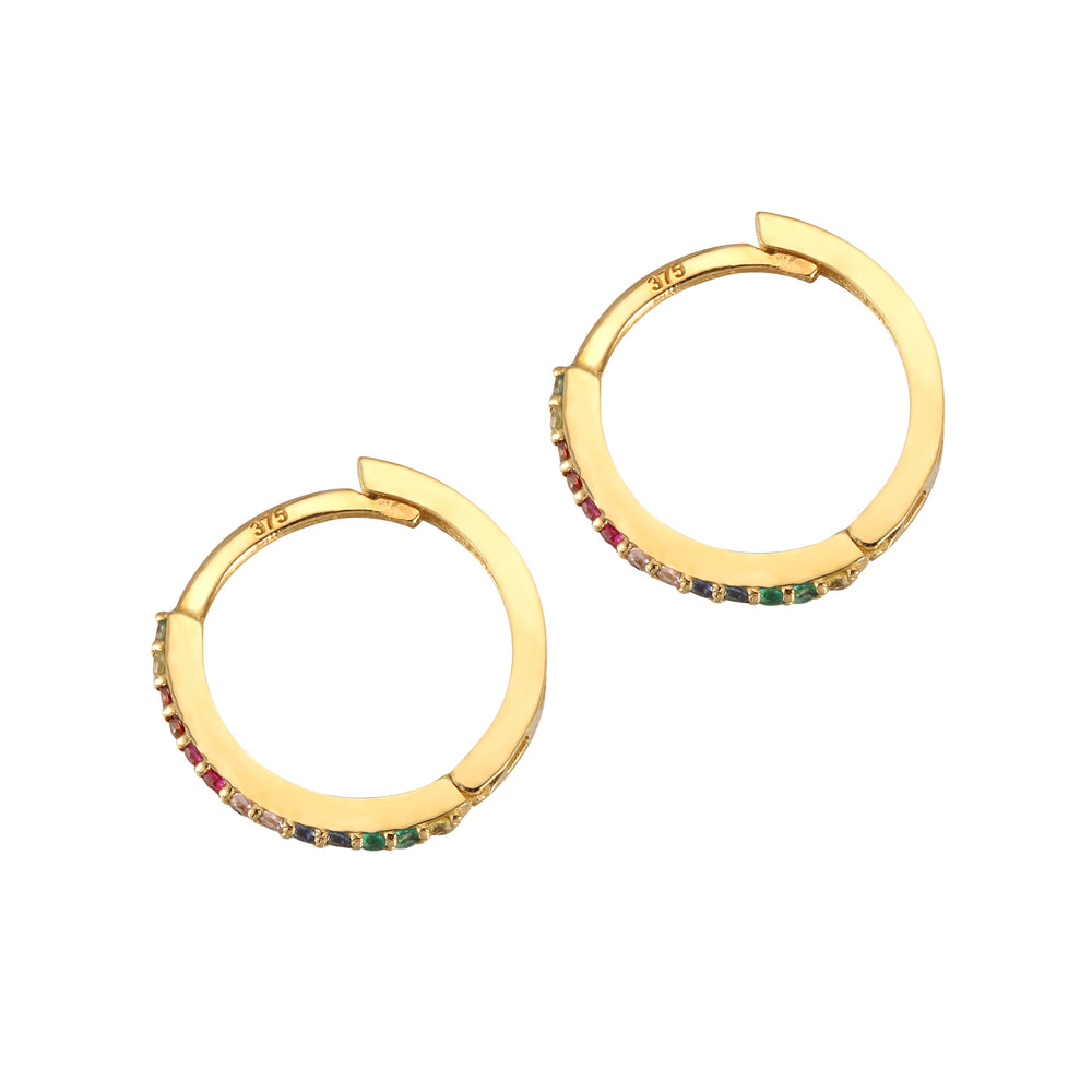 Rainbow CZ Earrings - seol-gold