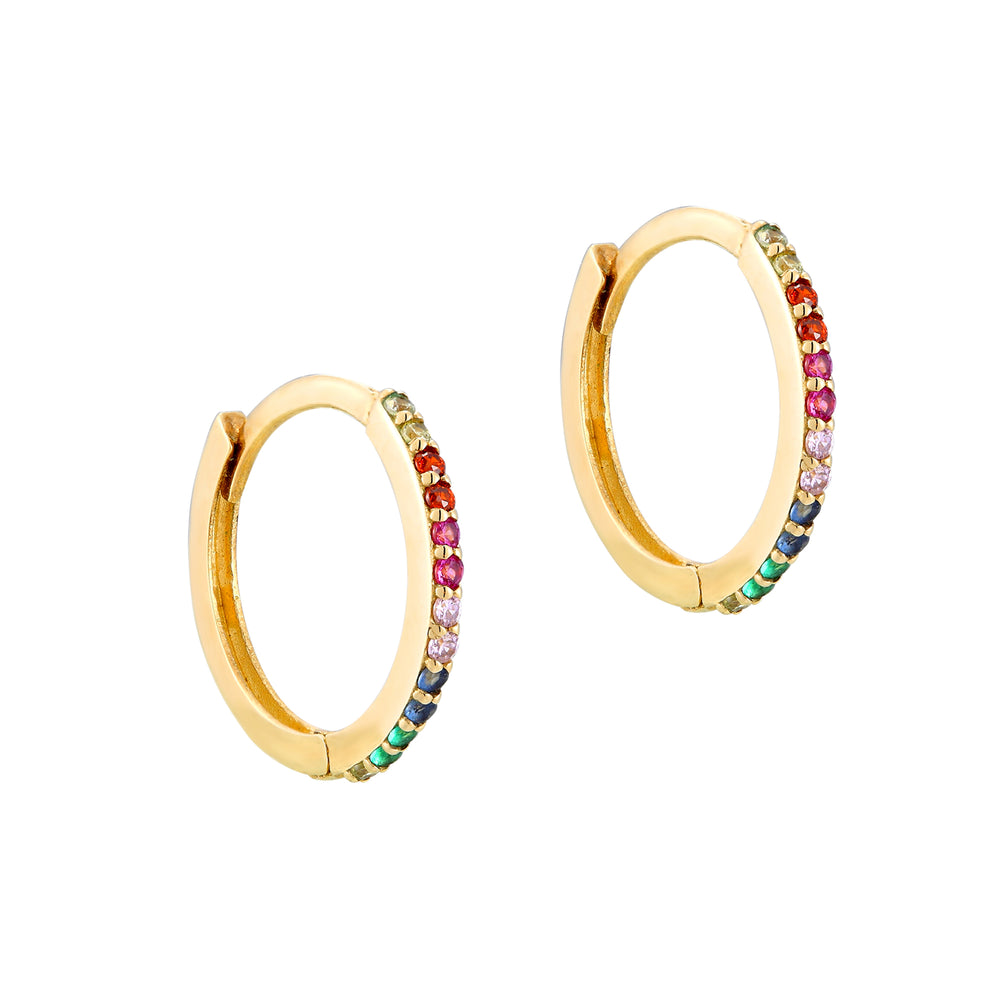 9ct Gold Rainbow Earrings - seol-gold