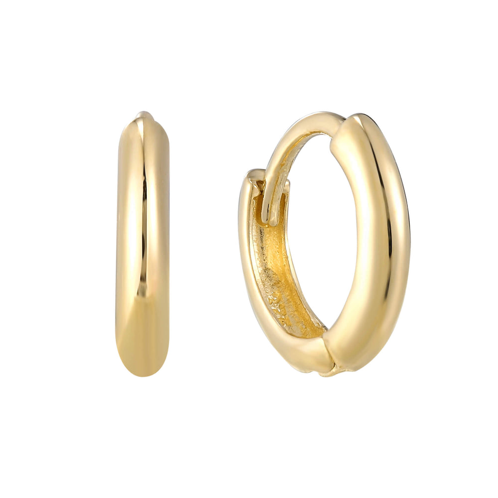9k gold tiny gold hoops - seolgold