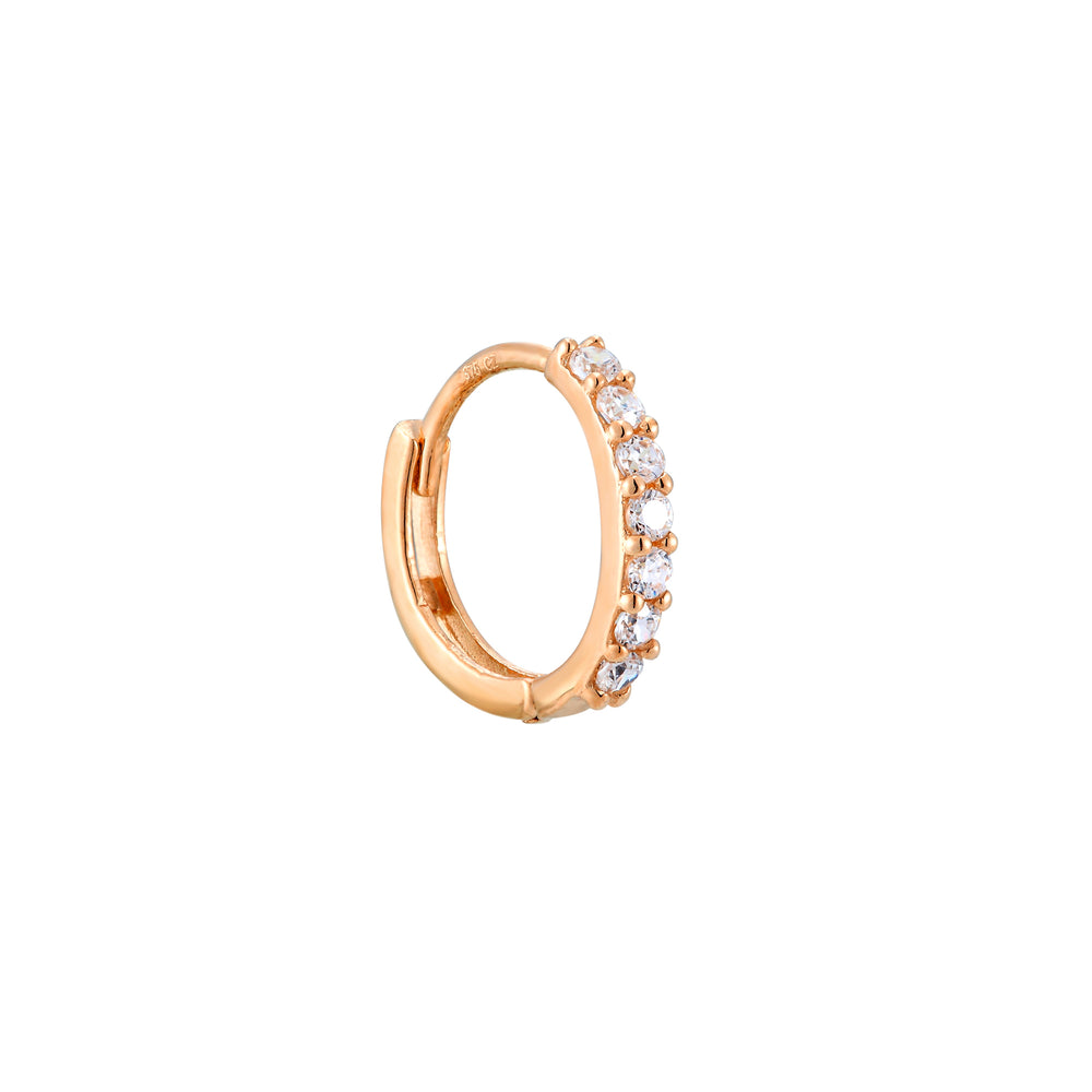 9ct Gold CZ Hoops