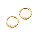 9ct white gold hoops - seol-gold