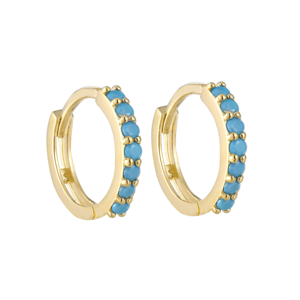 Gold Turquoise Earrings - seol-gold