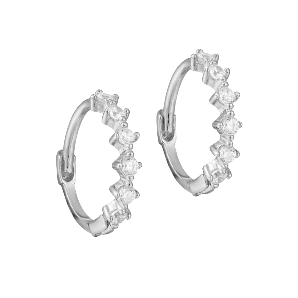 Silver - cartilage hoops - seolgold