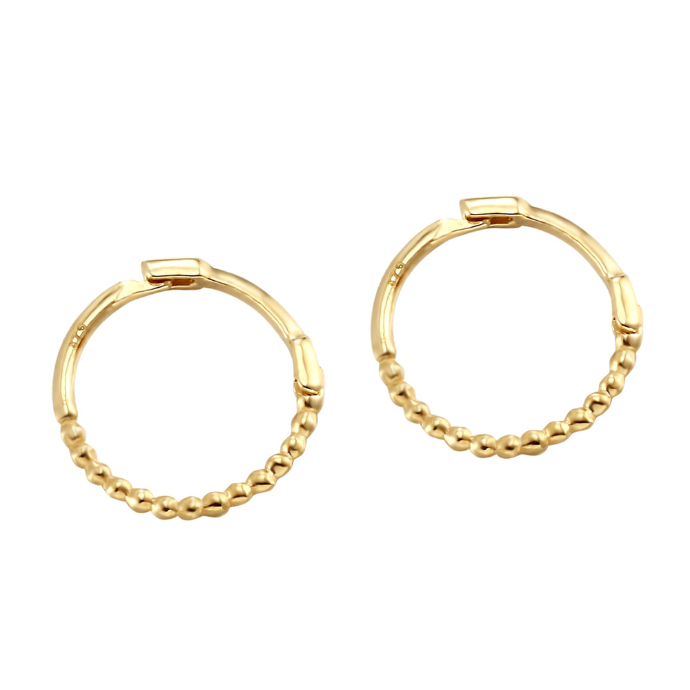 9ct yellow gold hoops - seolgold