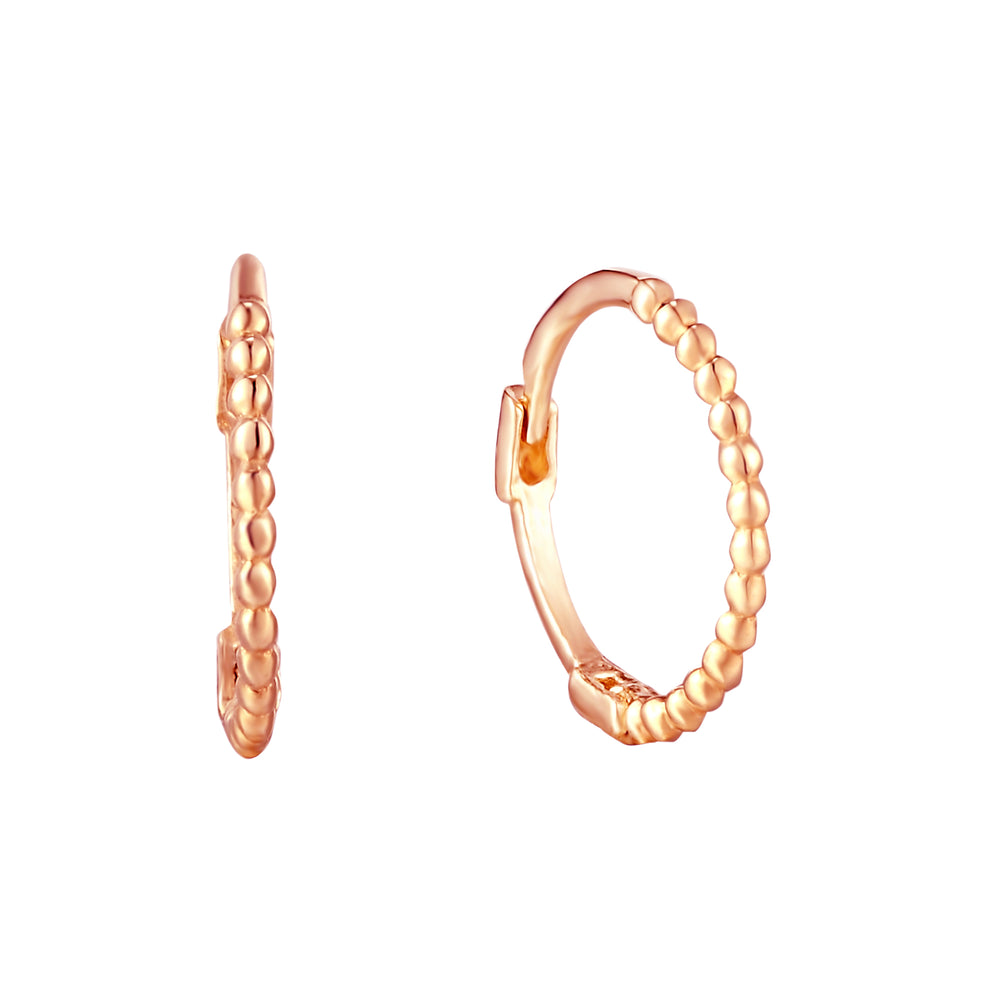 9ct rose gold hoops - seolgold