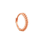 9ct rose gold hoop -seolgold