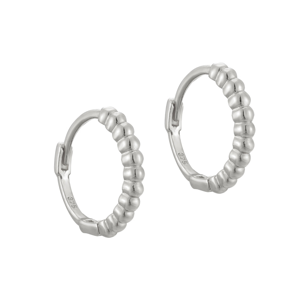 9ct white gold hoops - seolgold