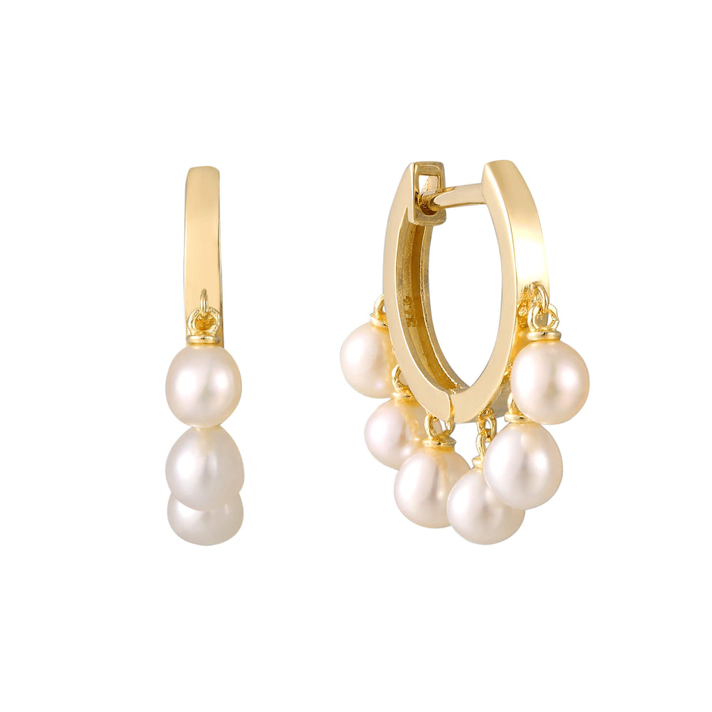 9ct gold pearl earrings - seolgold