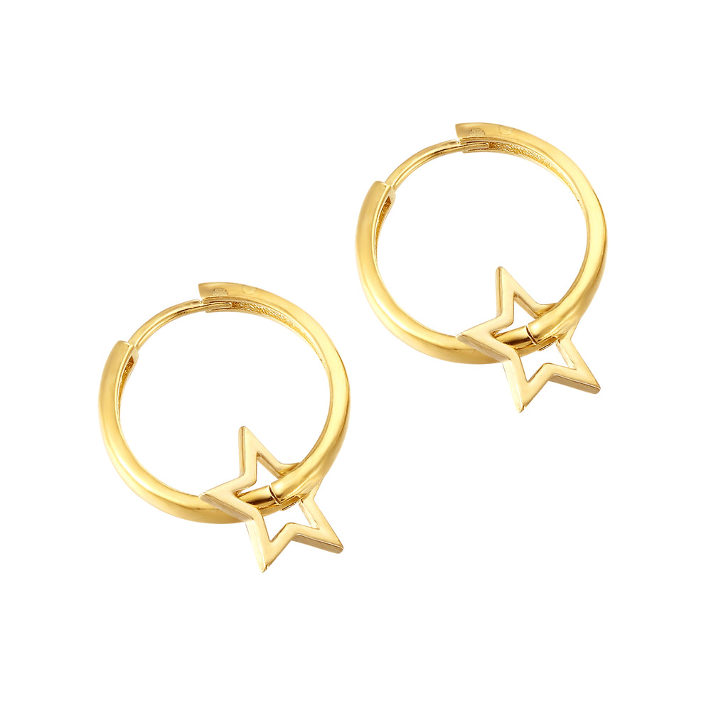 large gold hoops - seolgold