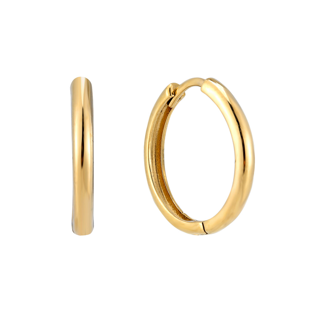 9ct gold - hoop earrings - seolgold