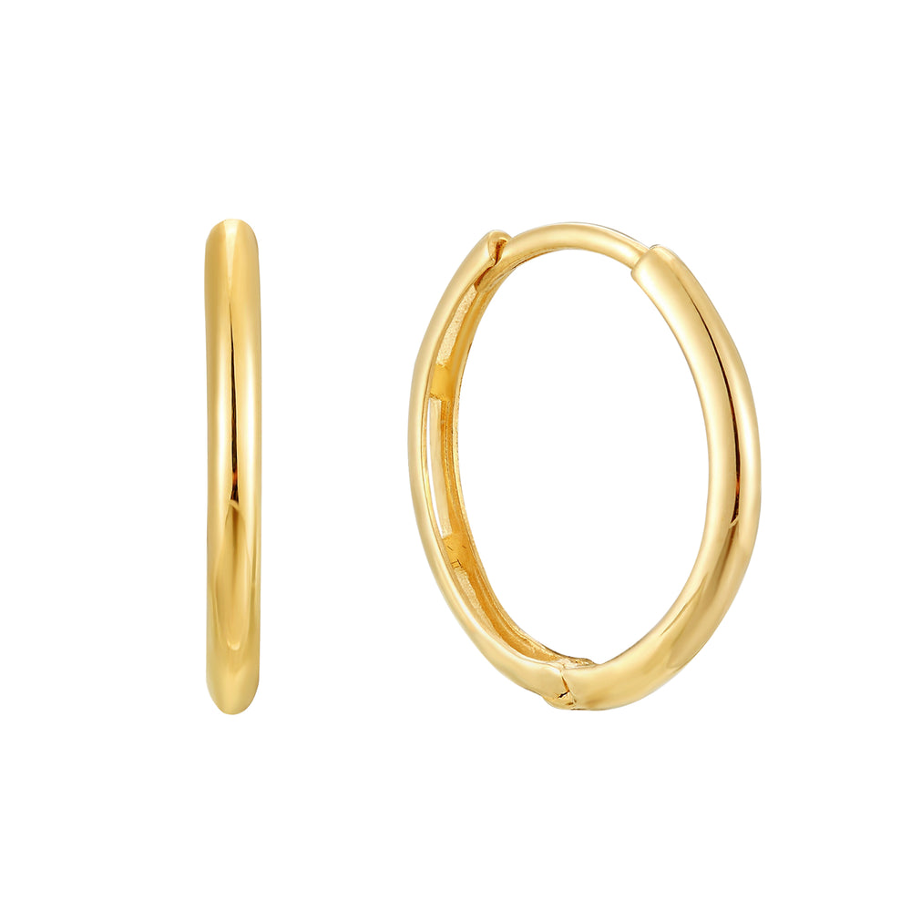 9ct gold big gold hoops - seolgold