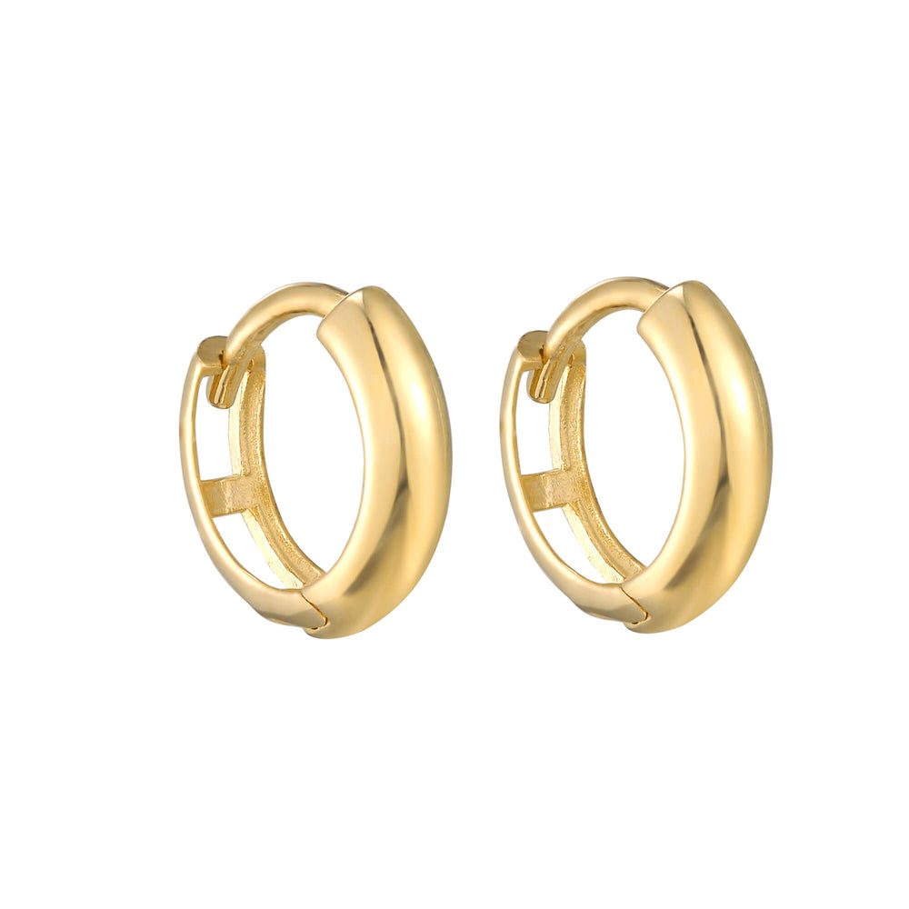 9ct Gold Chunky Huggie Earrings - seol-gold