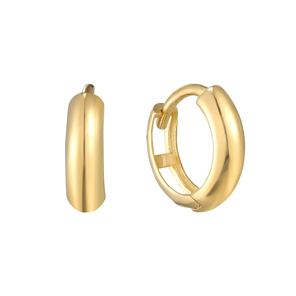 Huggie Earrings - seol-gold