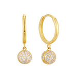 9ct gold - huggie hoops - seolgold