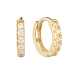 9ct Gold CZ Small Huggies