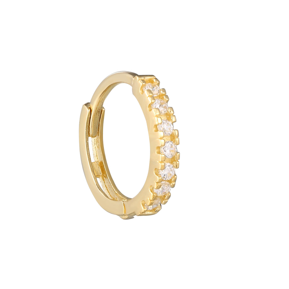 9ct Gold CZ Huggies