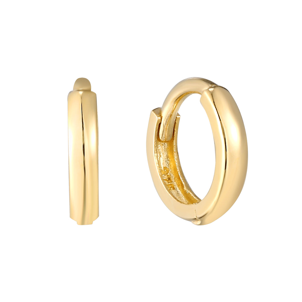 9ct Gold Plain Huggie