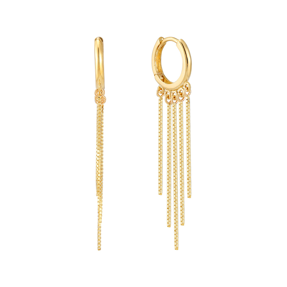 9ct gold - chain hoops - seolgold