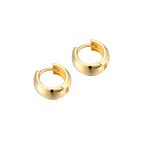 9ct Gold Thick Huggie Earrings