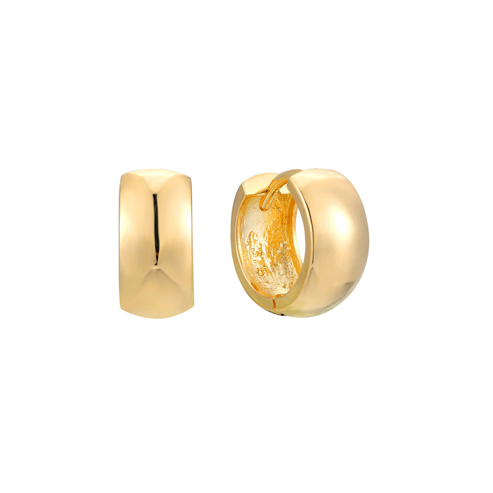 9ct Gold Thick Huggie Earrings - seol-gold