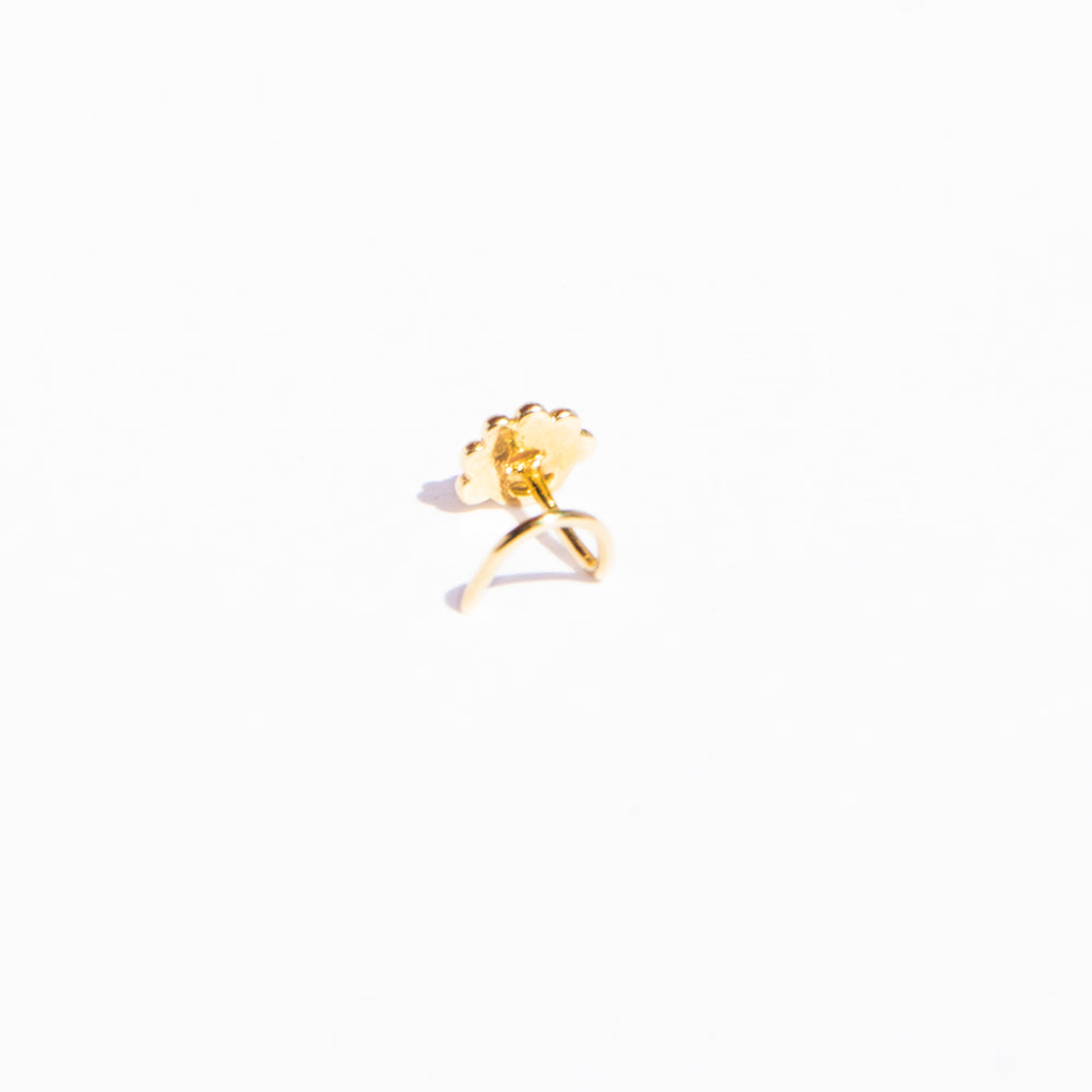 flower nose pin - seol-gold