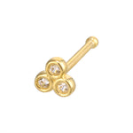 9ct gold nose stud - seolgold