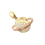 9ct Gold Planet Pendant - seol-gold