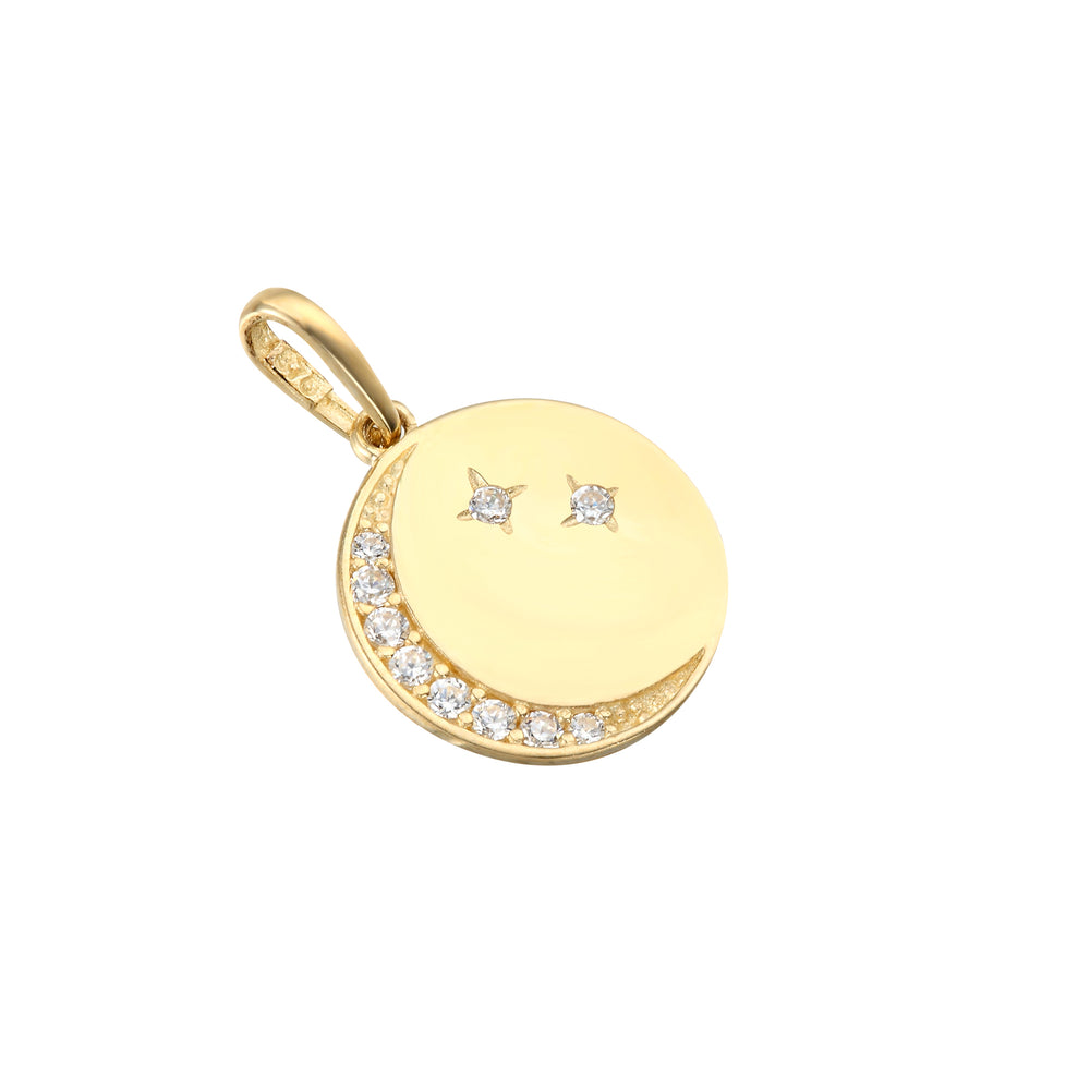9ct Gold Moon and Star Medallion