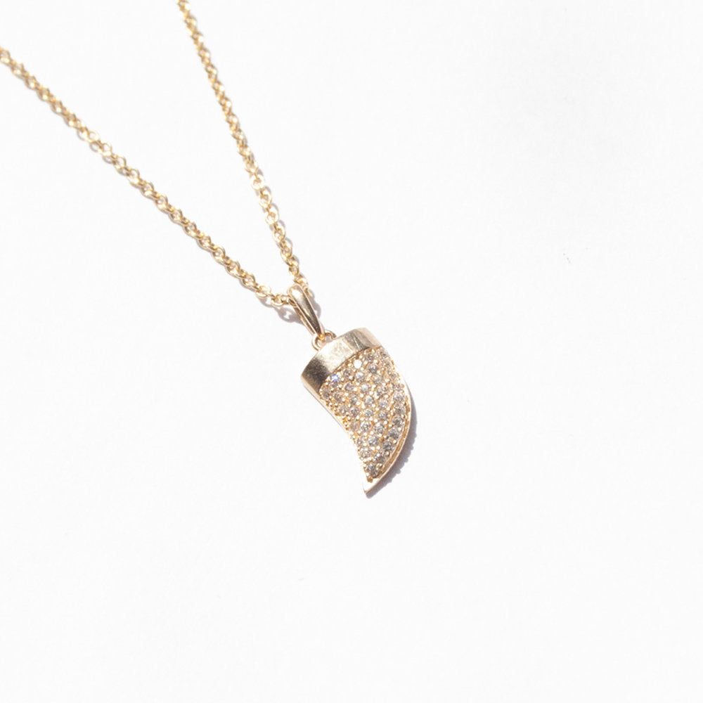 9ct Gold Tusk Necklace - seol-gold
