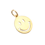 Gold Smiley Face Pendant - seol-gold