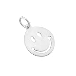 silver Smiley Face Pendant - seol-gold