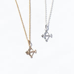 silver arrow pendant - seol-gold