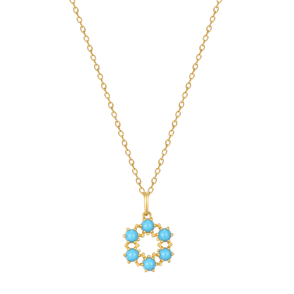 9ct Gold Turquoise  necklace - seol-gold