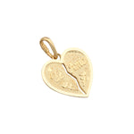 9ct Gold 'Te Amo' Heart Pendant Necklace