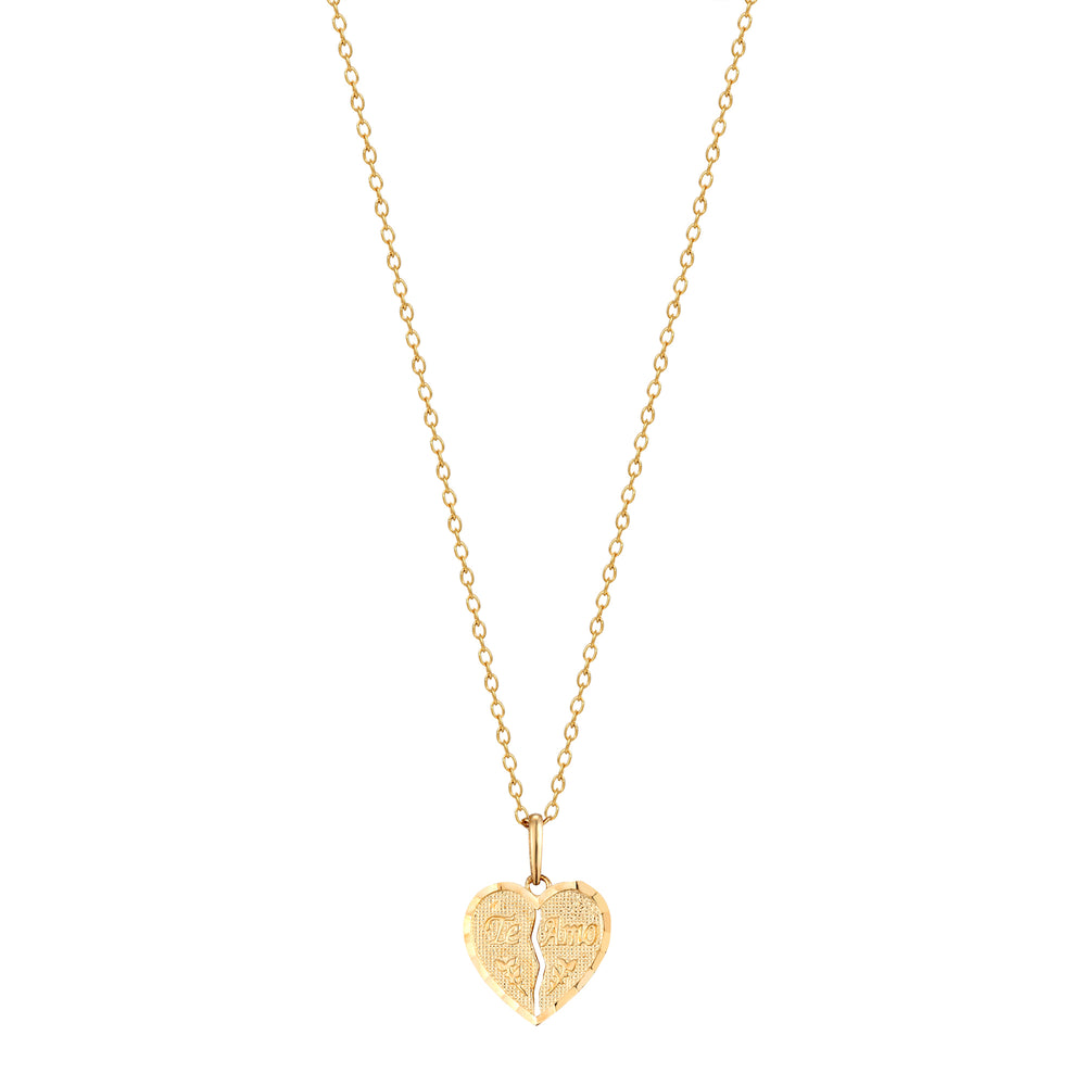 Gold 'Te Amo' Necklace - seol-gold