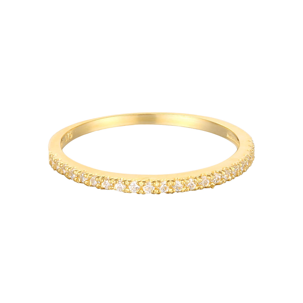 9ct Gold CZ Eternity Band Ring