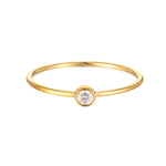 9ct Gold CZ Bezel Ring