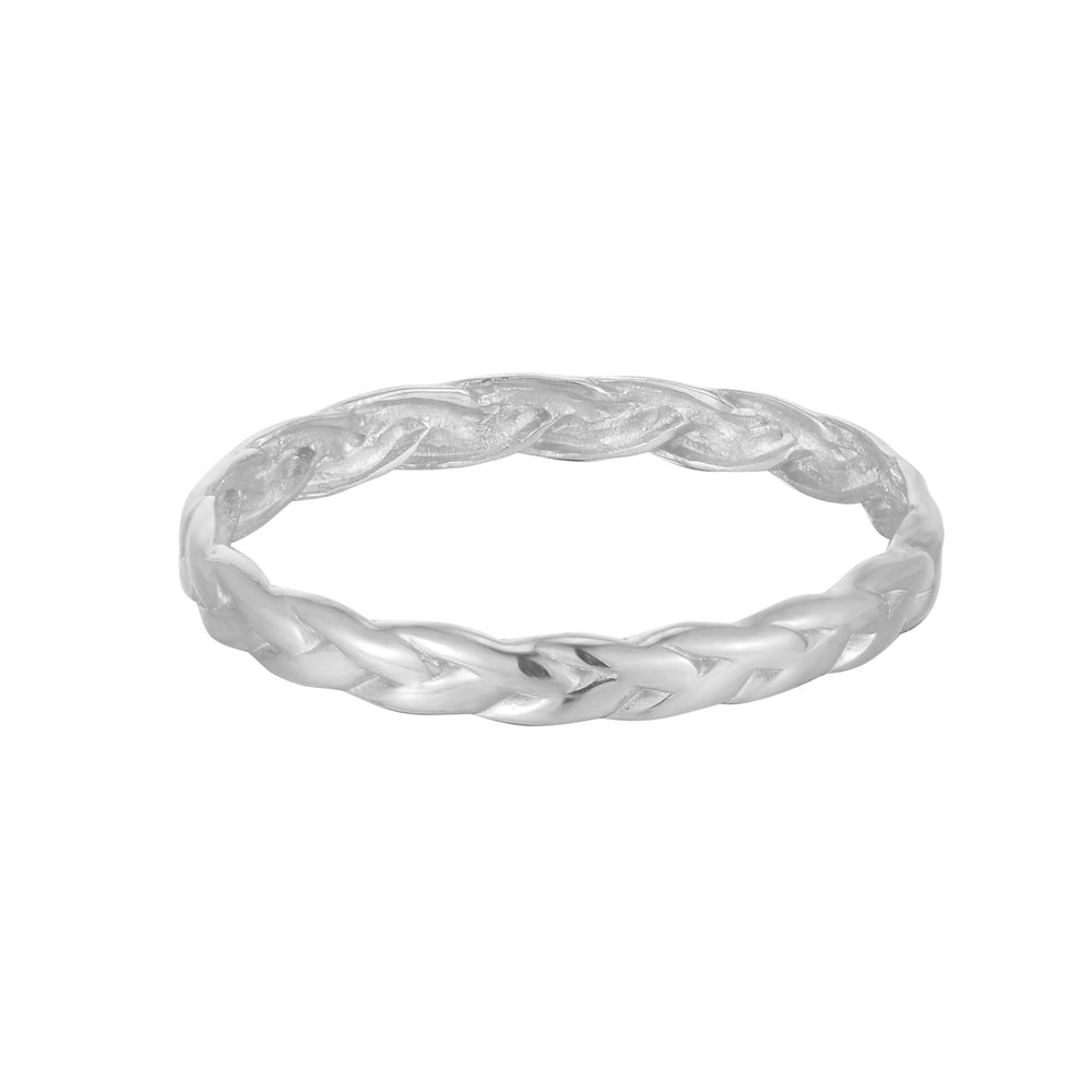 silver rope ring - seolgold