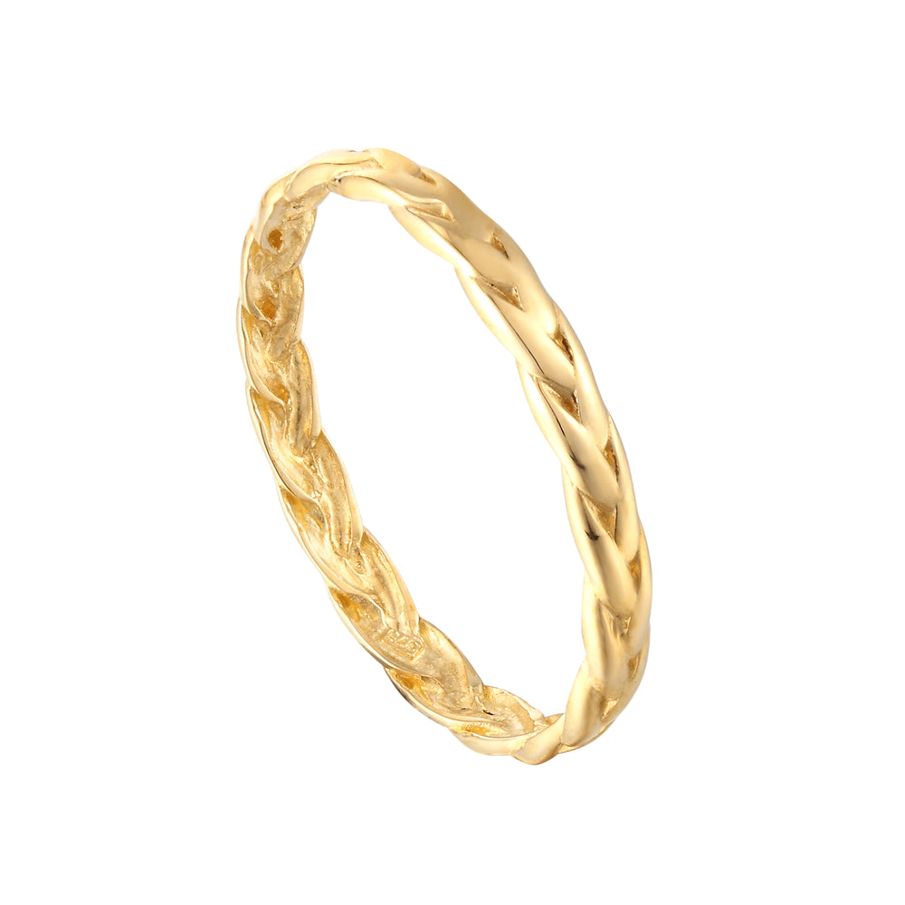 9ct Gold Rope Plait Ring