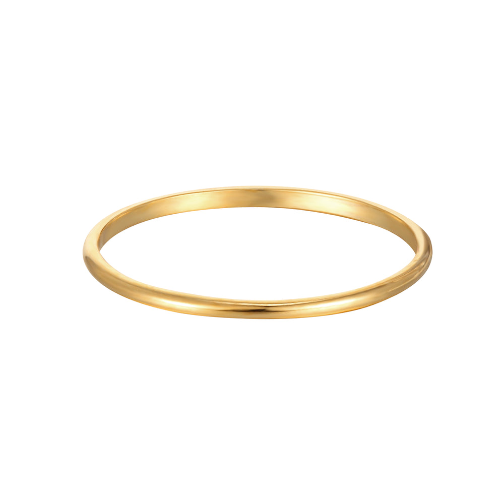 9ct Gold Thin Plain Band Ring - seol-gold