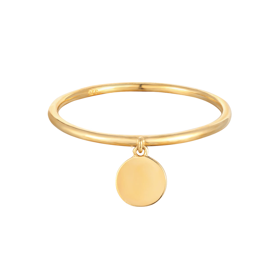 9ct Gold Disc Charm Ring
