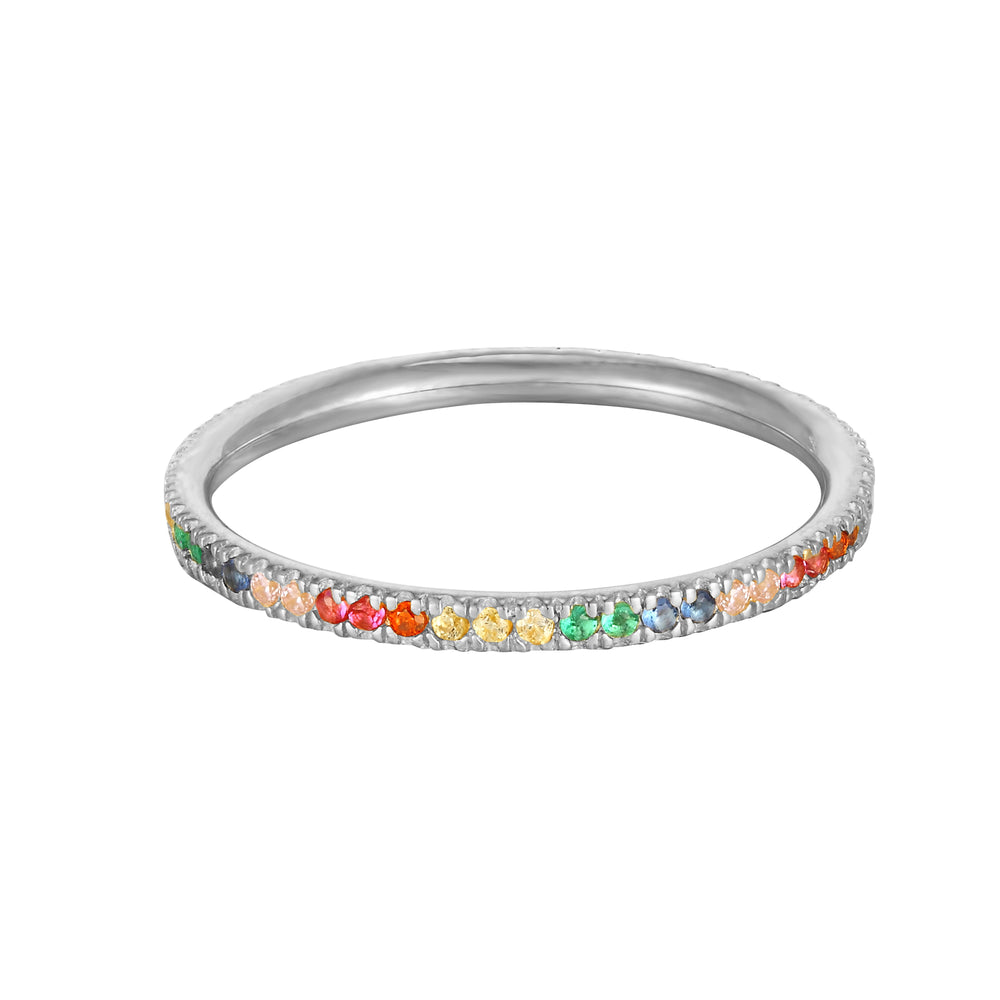 silver rainbow ring - seolgold