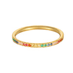 9ct Gold Rainbow Eternity Ring