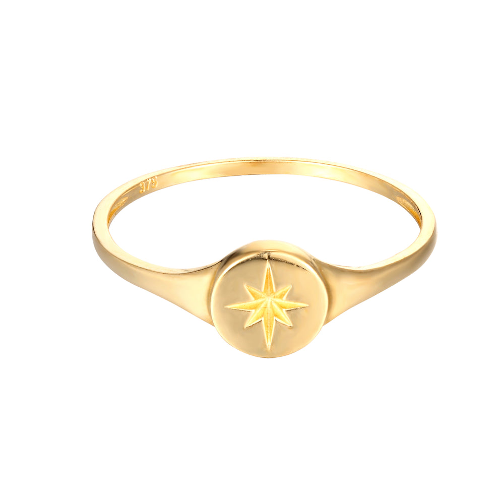 9ct yellow gold signet ring - seolgold