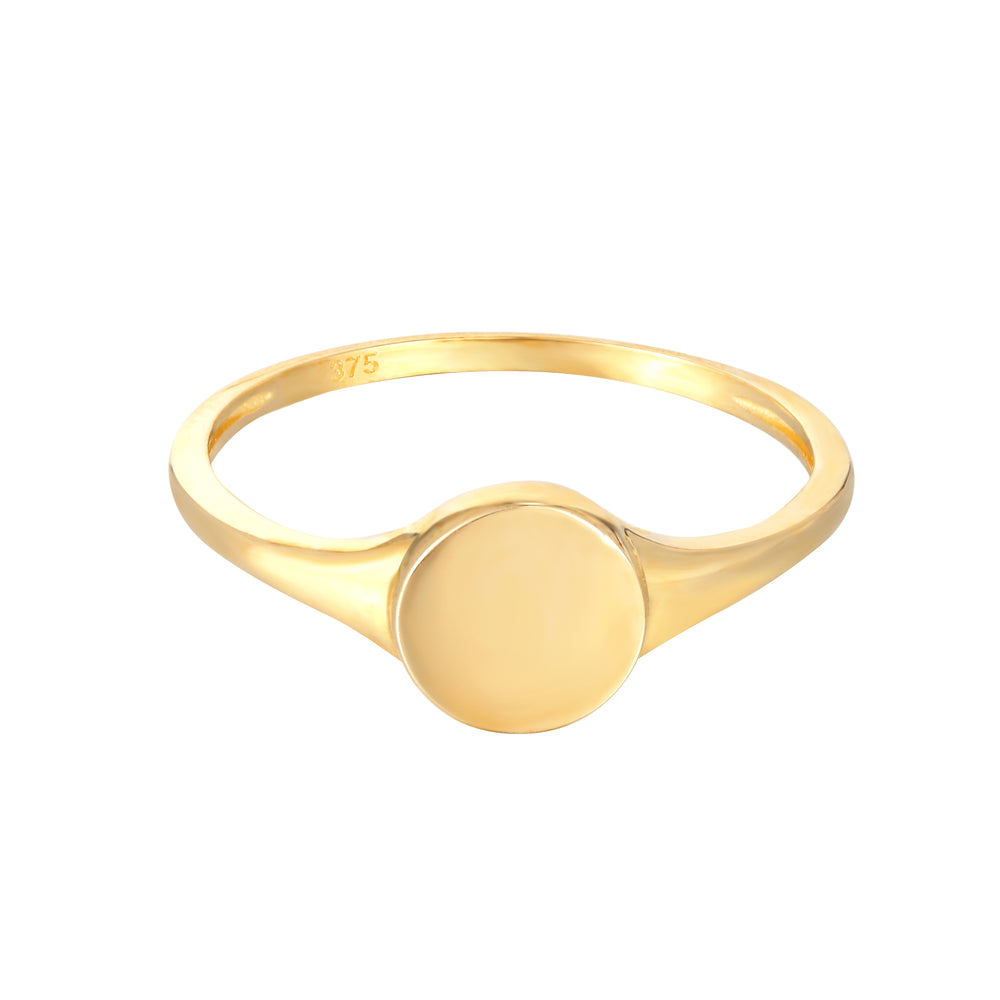 9ct Gold Round Signet Ring