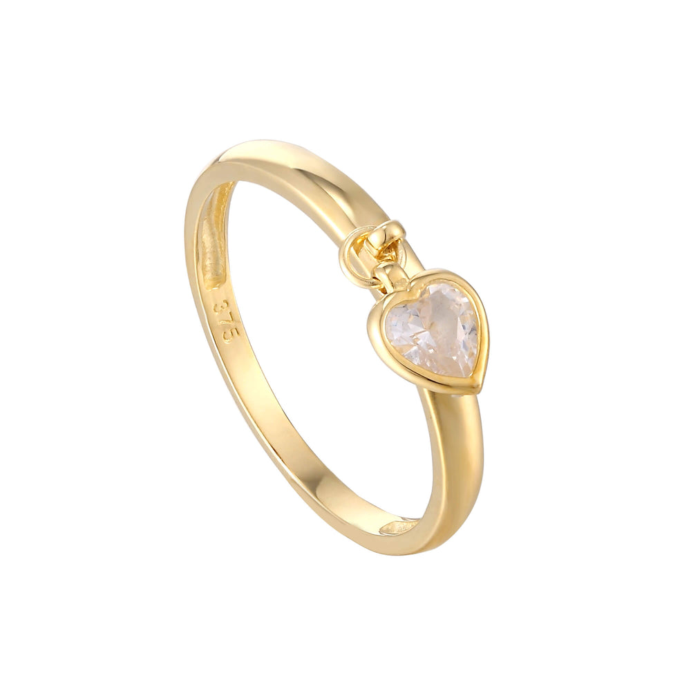 9ct heart charm ring - seol gold